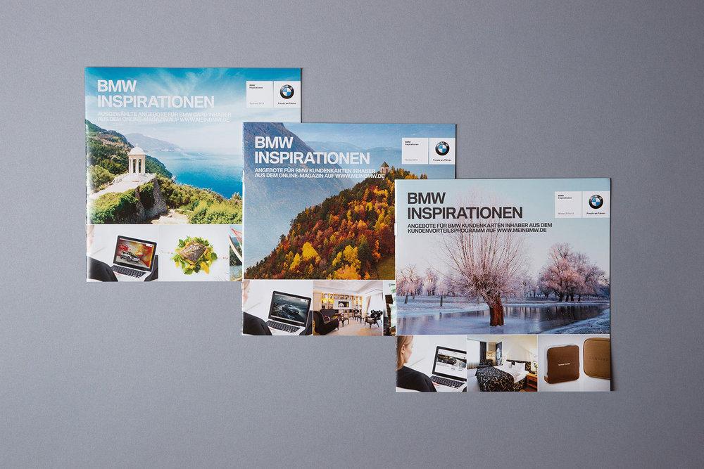 BMW Inspirationen, Broschüre mit den saisonalen Vorteilsangeboten (2014)