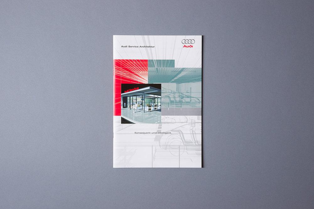 Broschüre mit Fachinformationen zu den Architekturvorgaben der AUDI AG