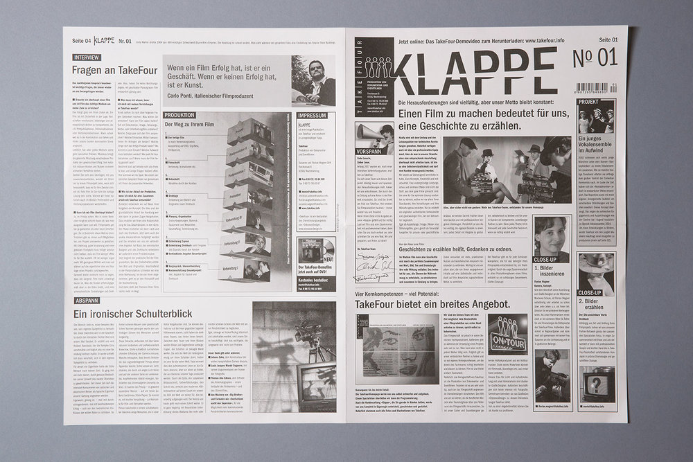 "Imagezeitung ""Klappe Nr. 01"""