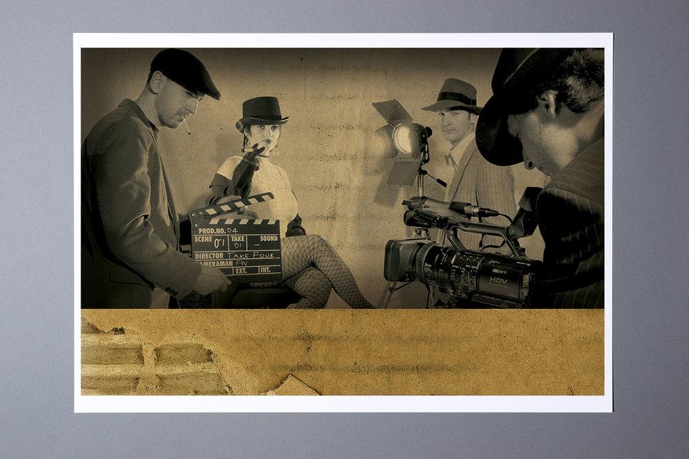 Das Take Four Team, Bildbearbeitung für die Visitenkarte