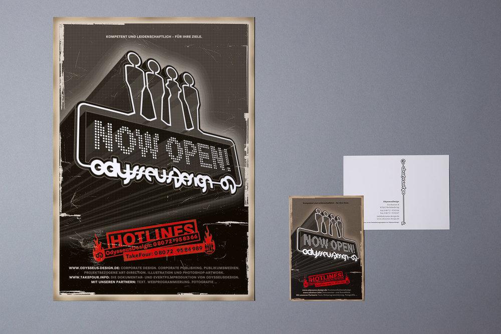 Poster- und Postkartenmotiv zur Eröffnung
