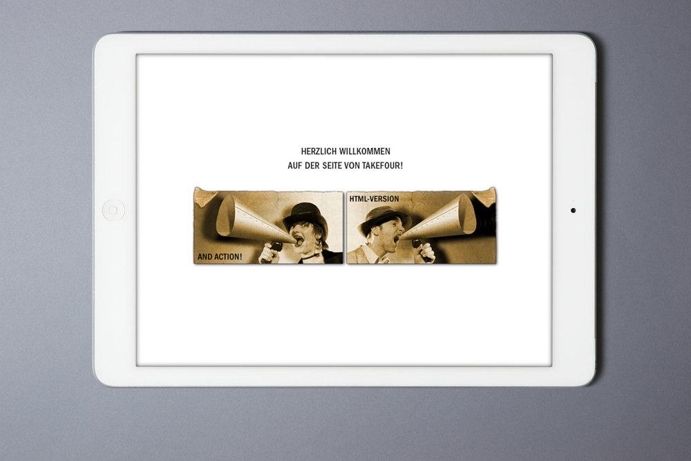 Website, 2006, in einer Flash- und einer html-Version verfügbar