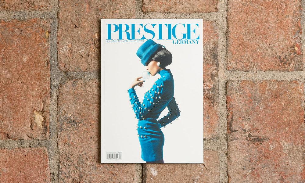 """Das Schweizer Luxusmagazin """"PRESTIGE"""" erscheint vierteljährlich auf dem deutschen Markt."""