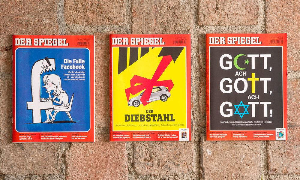 """""""Der Spiegel"""", März und April 2018."""