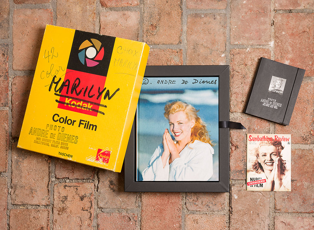 Die großformatige Sonderedition im Box Set  André de Dienes. Marilyn Monroe  von 2002 wurde bei einer Auflage von 20.000 Stück einzeln nummeriert und ist vergriffen.