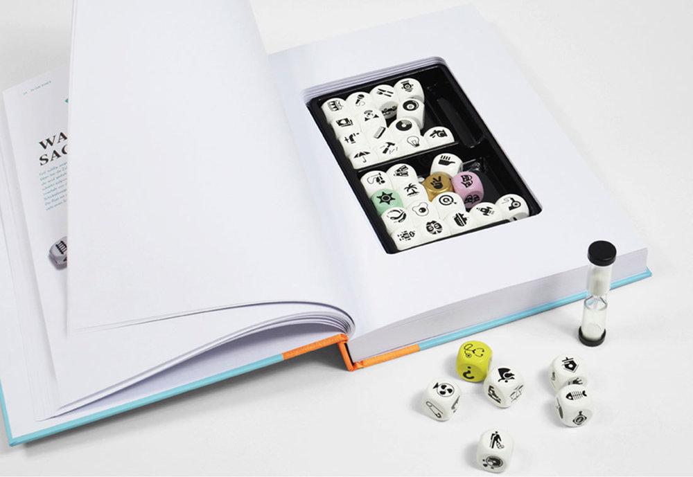 """So sieht der Inhalt vom Spielebuch """"Icon Poet"""", Verlag Hermann Schmidt."""