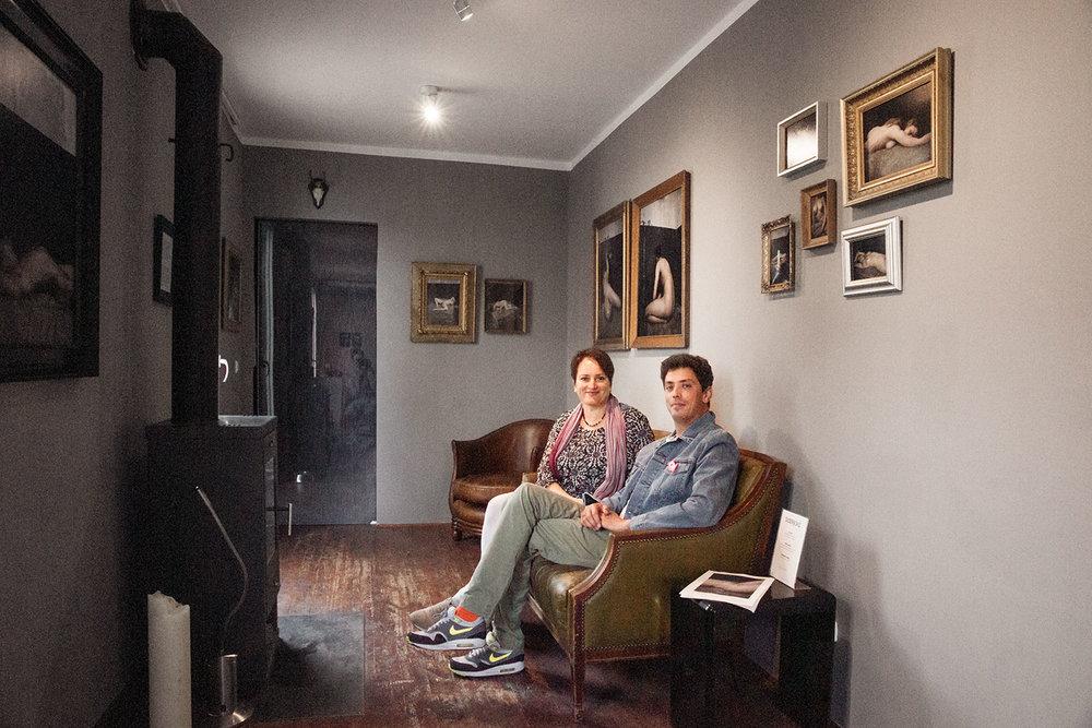 Galerist Chris Schmid im Gespräch mit Susanne