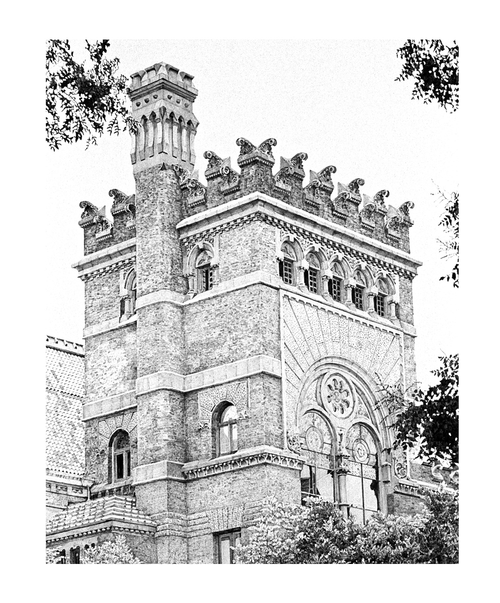 "Furness Library, UPenn  Graphite on paper  24"" x 20""  Sold, Private Collection"