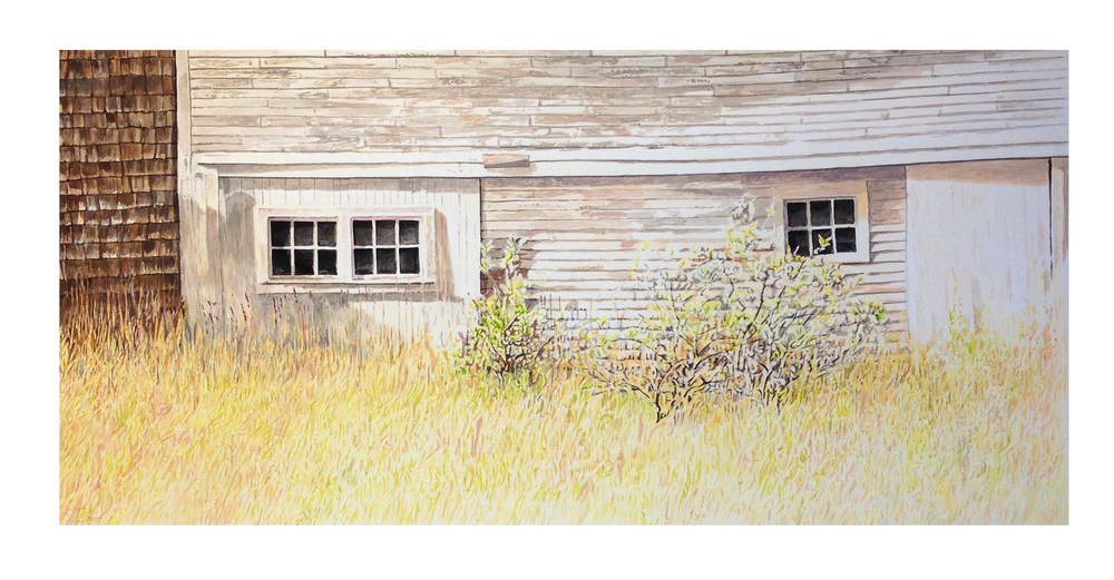 "The Old Sail Loft  Mixed media on paper  22"" x 41"""