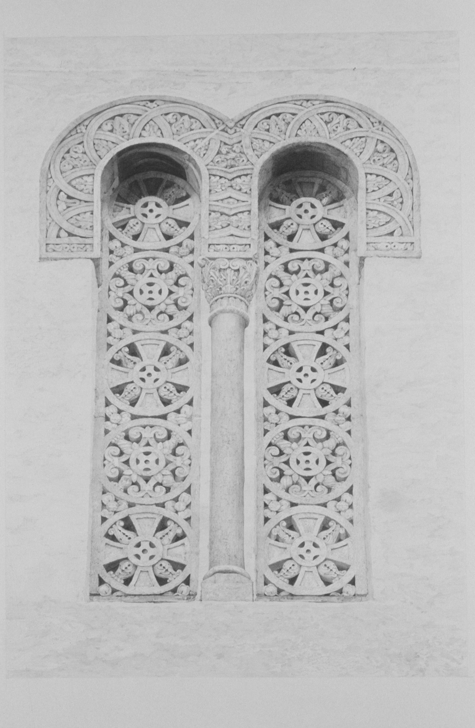 "Santa Barbara Windows, graphite on Arches paper, 32"" x 20"""
