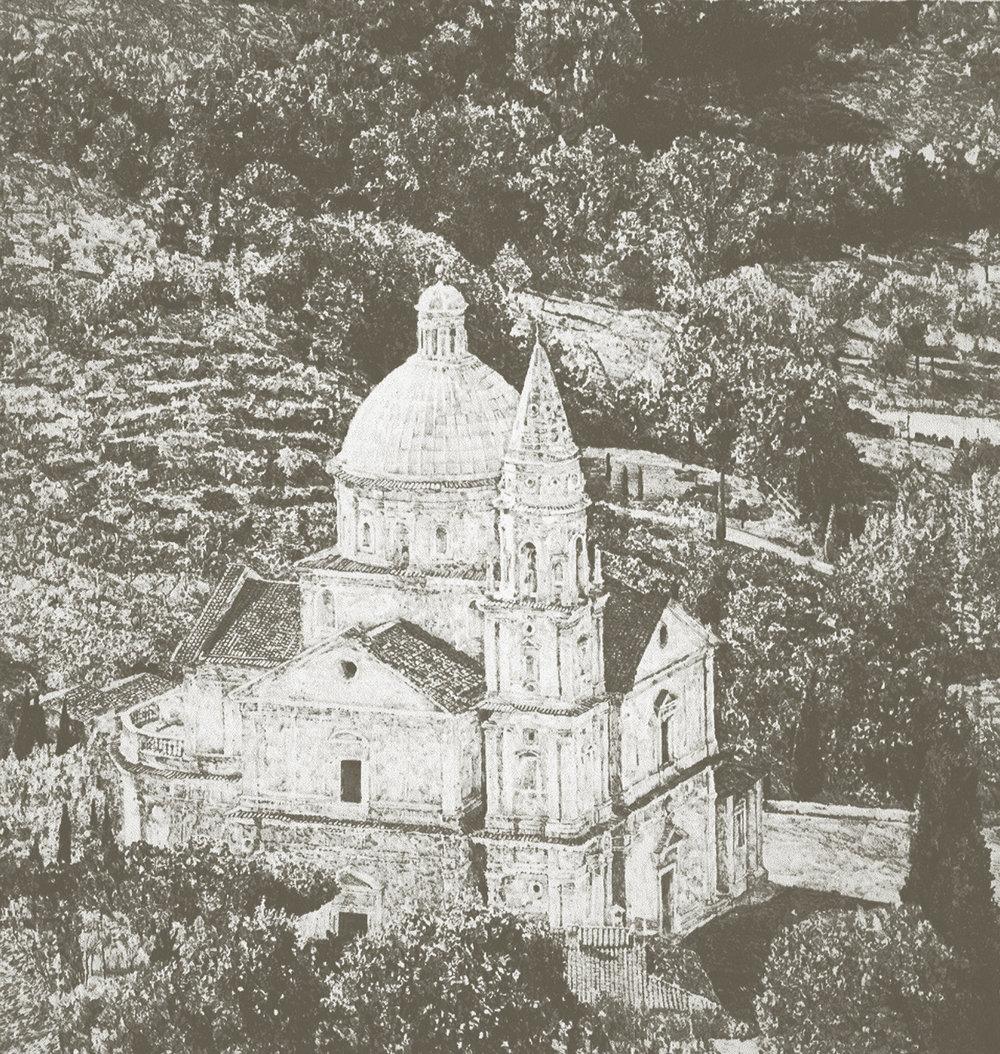 "San Biaggio, lithograph, ed/45, 30"" x 24"""