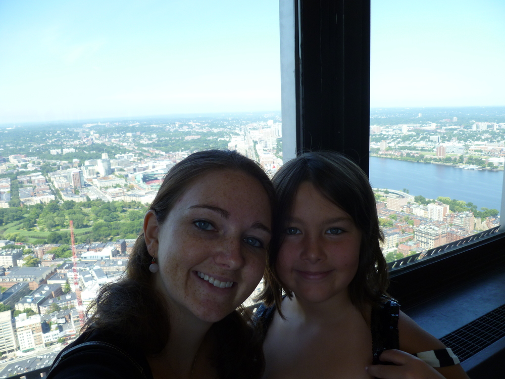 July 2013, My junior bridesmaid Zaida and I visiting the Skywalk