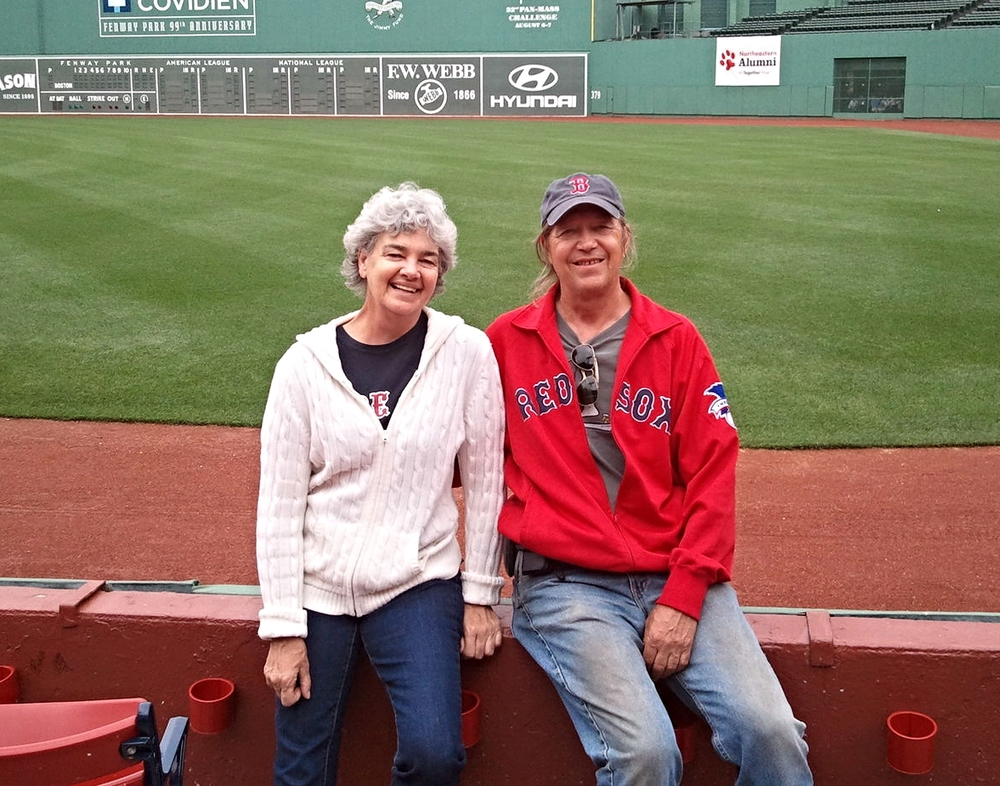 At Fenway Park for Northeastern Alumni & Family day