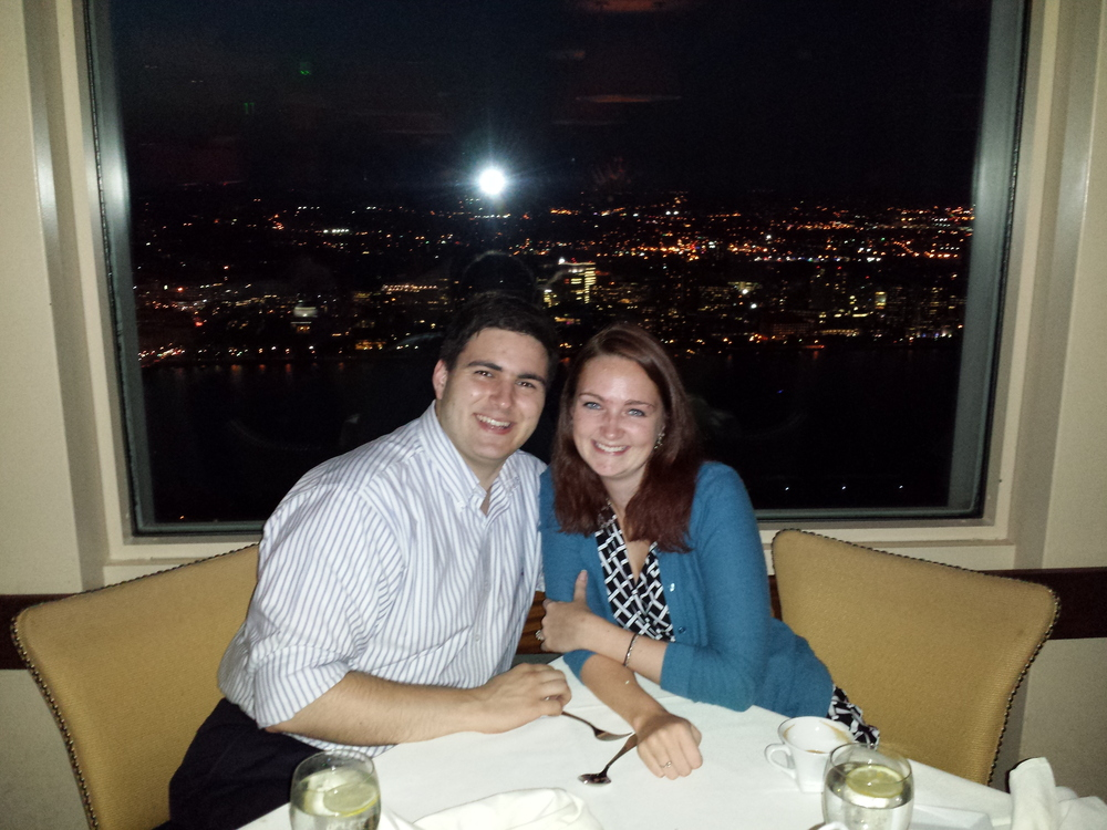 On the 51st floor of the Prudential tower, one floor above where we'll get married next year!