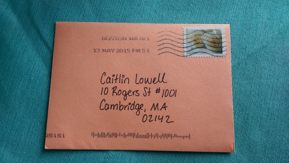 It's also a little weird to get so much mail addressed in my own handwriting!
