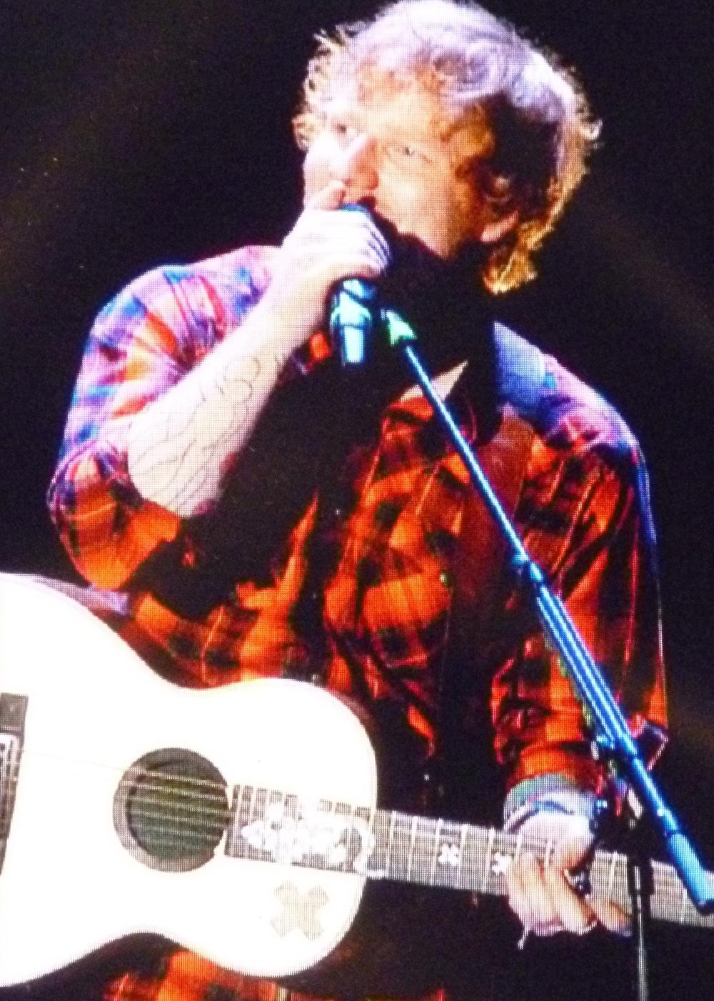 Ed Sheeran at Gillette