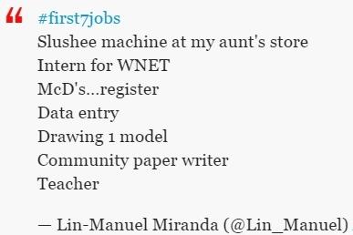 Lin Manuel Miranda First7Jobs FirstSevenJobs Lin_Manuel