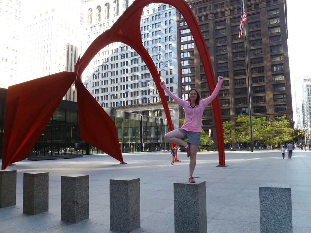 Alexander Calder Red Flamingo Statue Chicago