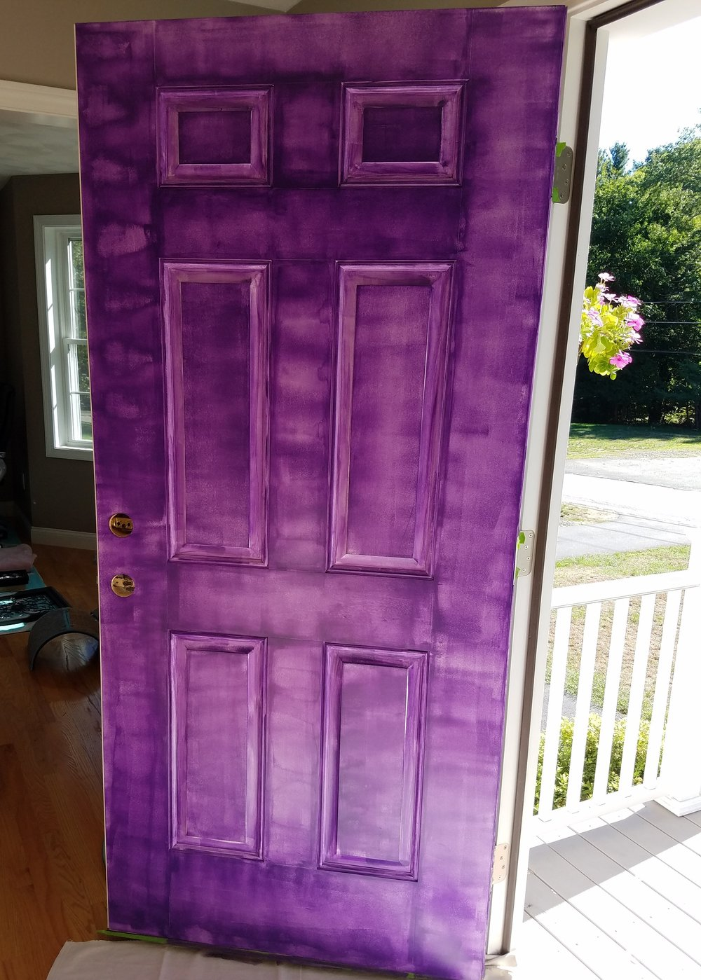 Paint a door purple