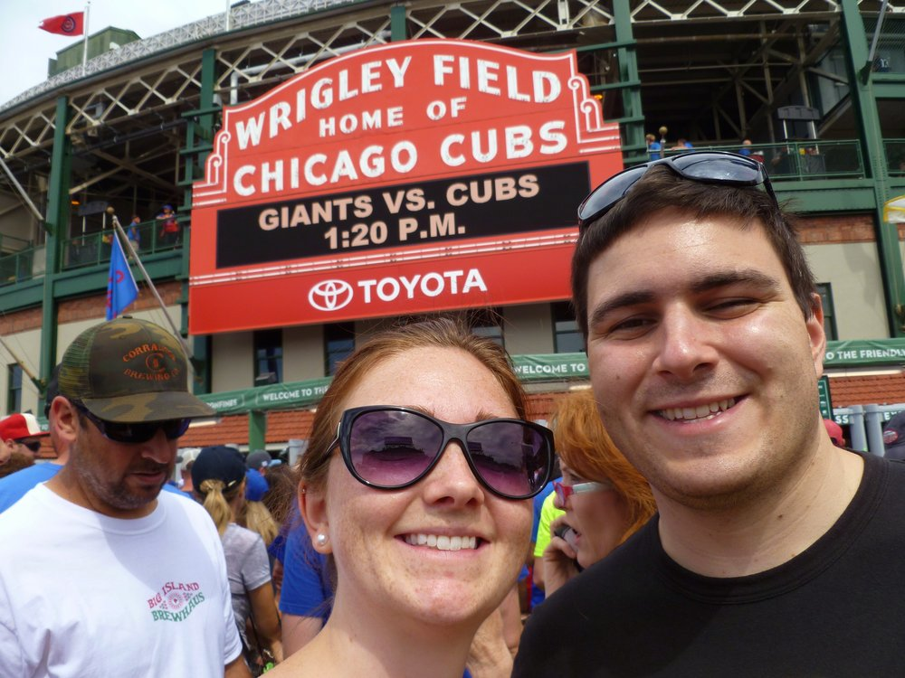 Wrigley field cubs baseball game sign