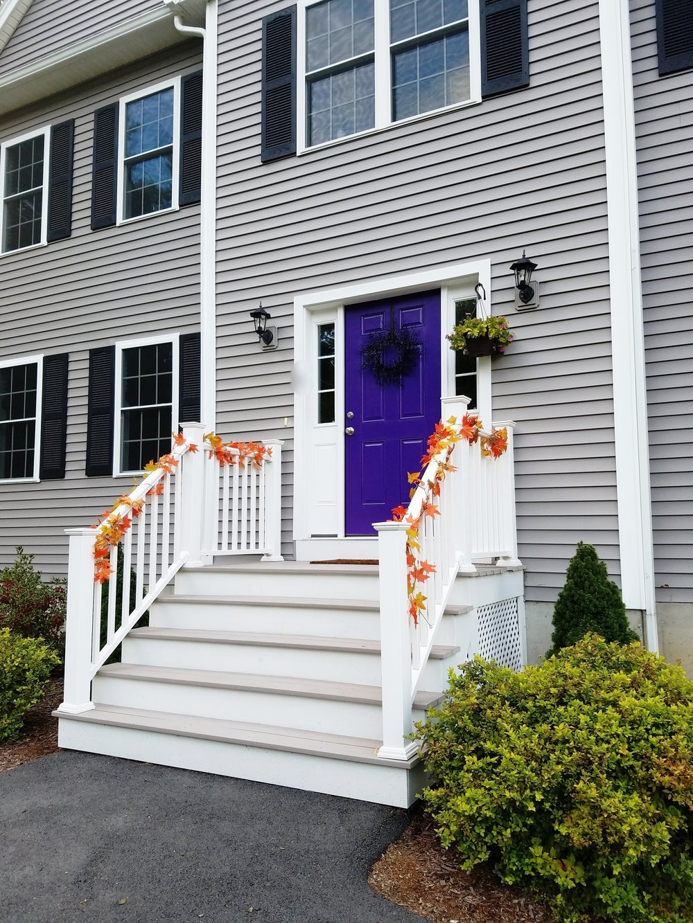 Purple door halloween