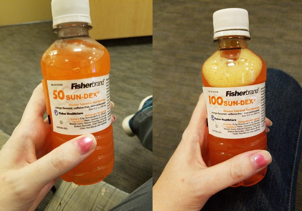 Three hour glucose test pregnancy diabetes pass orange drink