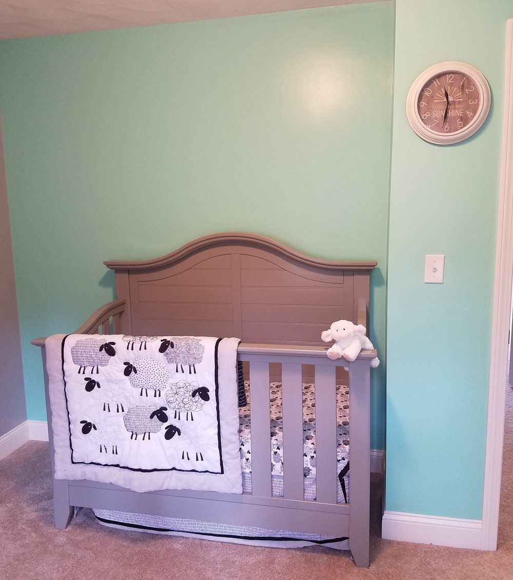 lamb baby crib