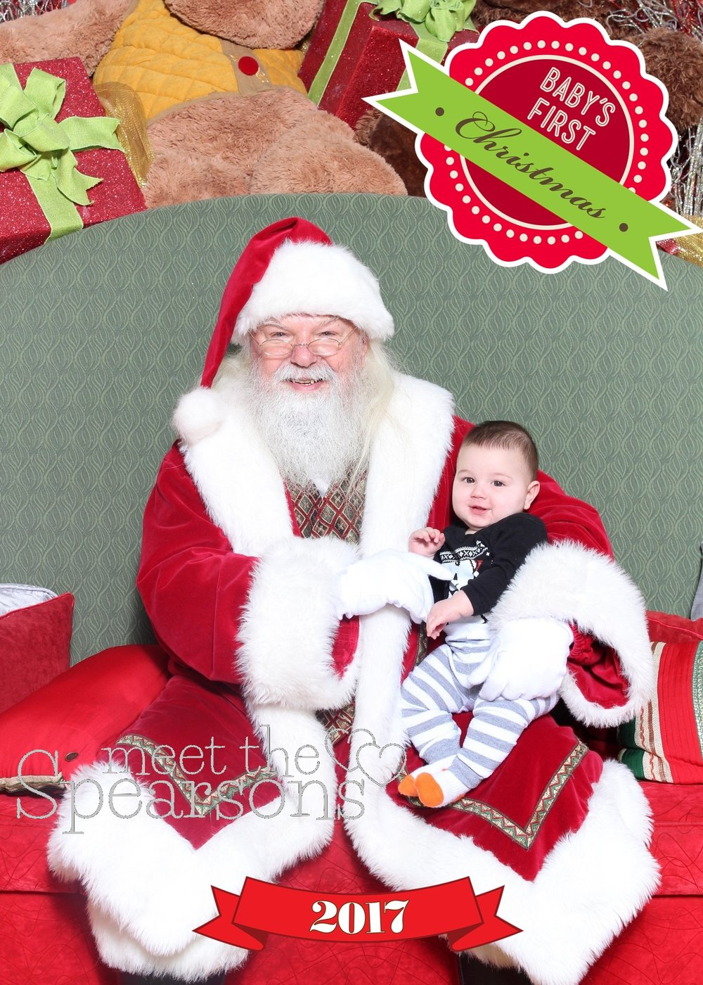 mall santa baby first christmas