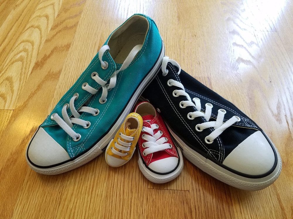 Pregnancy announcement second child Converse Sneakers