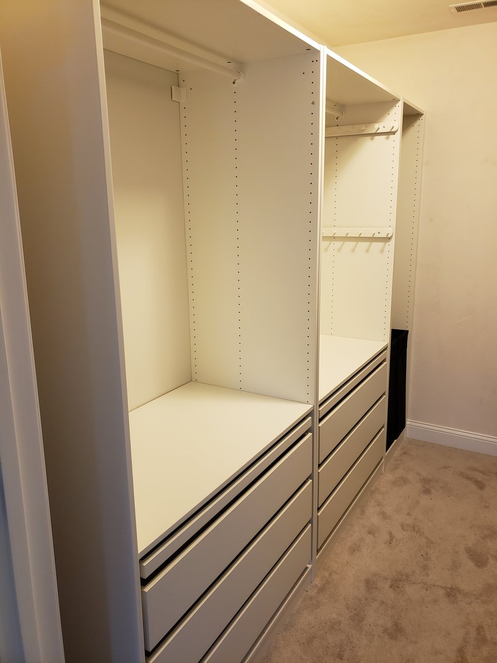 Master Closet After Ikea PAX