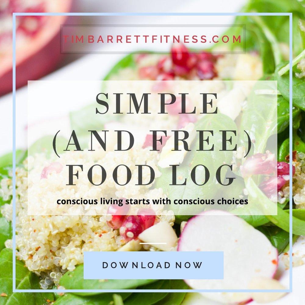 Tim Barrett Fitness | Food Log