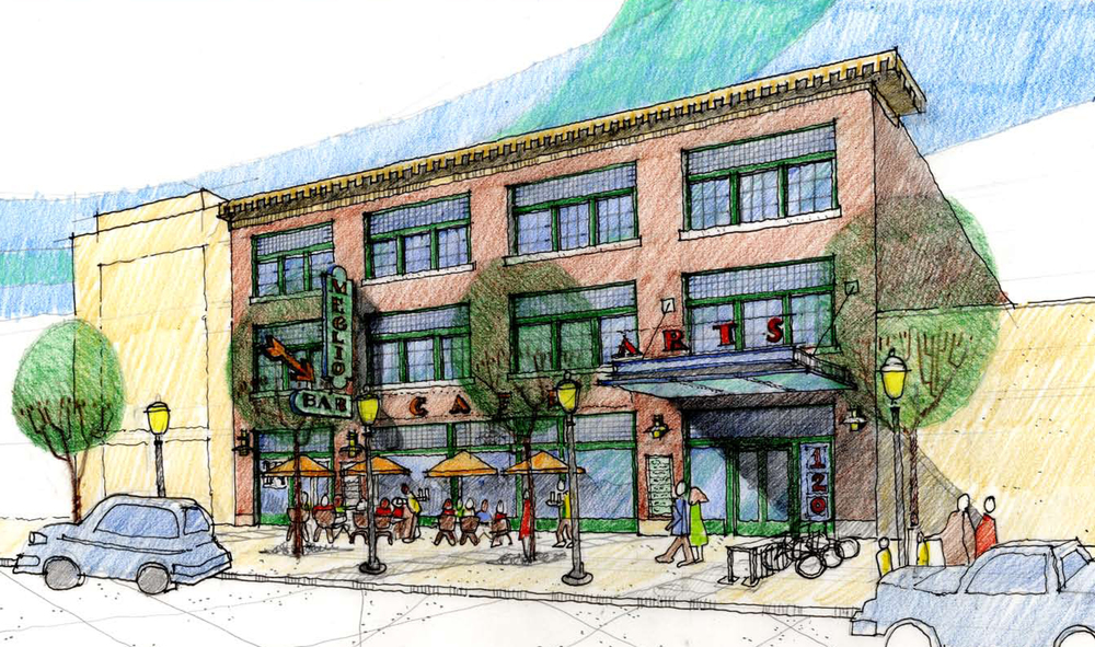Rendering from across North Avenue.