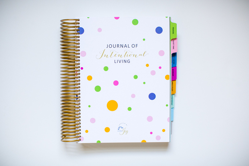 Journal of Intentional Living just for you and your relationship with Christ.  The next page is a place for your Name and Date and Moments/Thoughts you never want to forget.  A keepsake for years to come!
