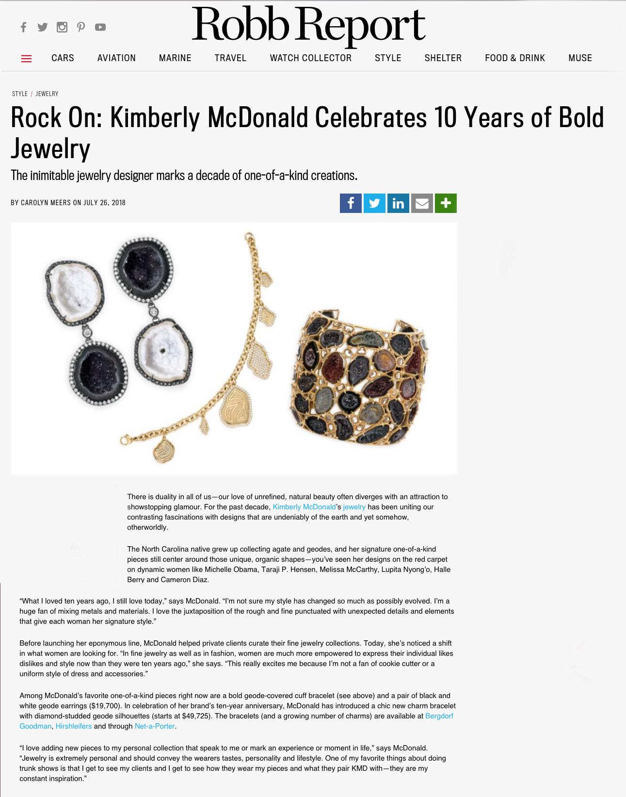 PRESS — Kimberly McDonald