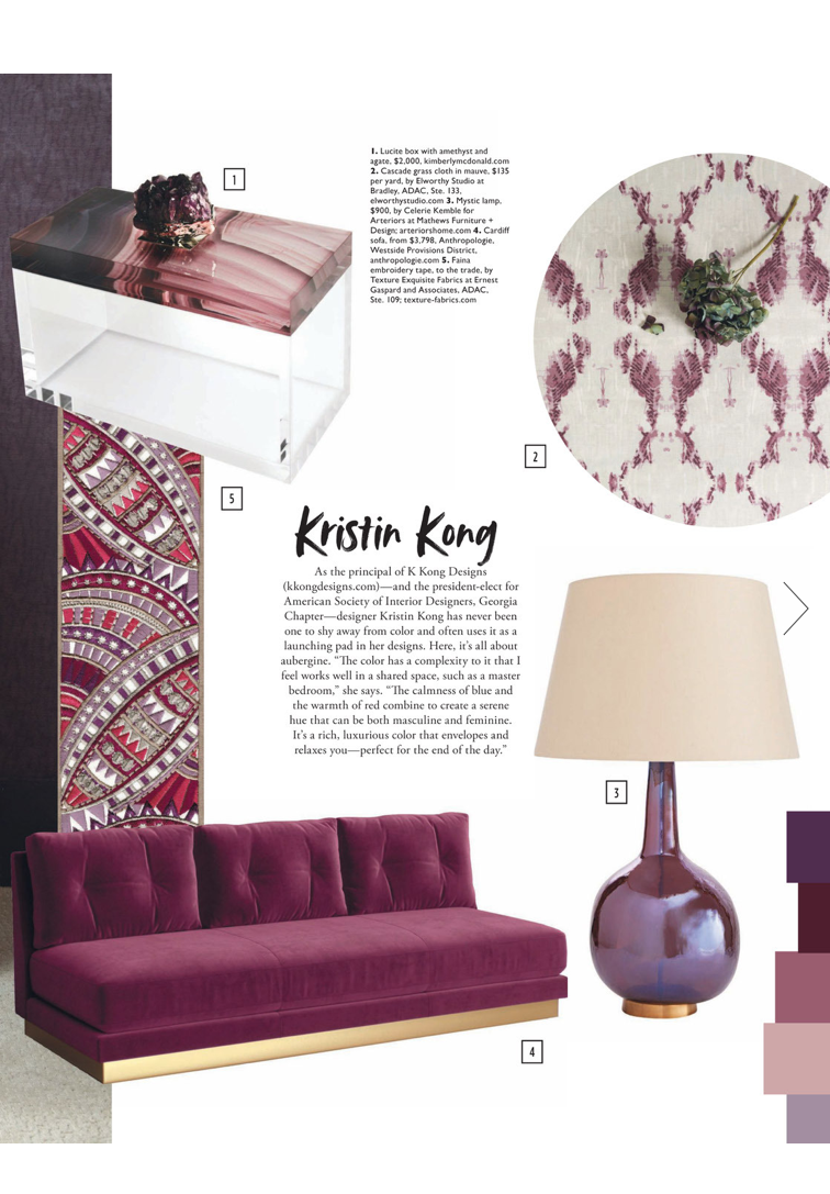 Kimberly McDonald Home Collection Lucite Box With Amethyst Top And Embedded  Laguna Agate Printed Silk Featured