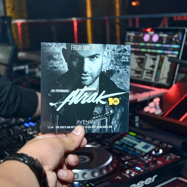 Friday, May 26th the legendary @atrak will be performing a special live set at @avenulounge! Trust us, you don't want to miss this one! #dallasedm #edm #dj #dallasisdallas #uptowndallas #nightclub #party