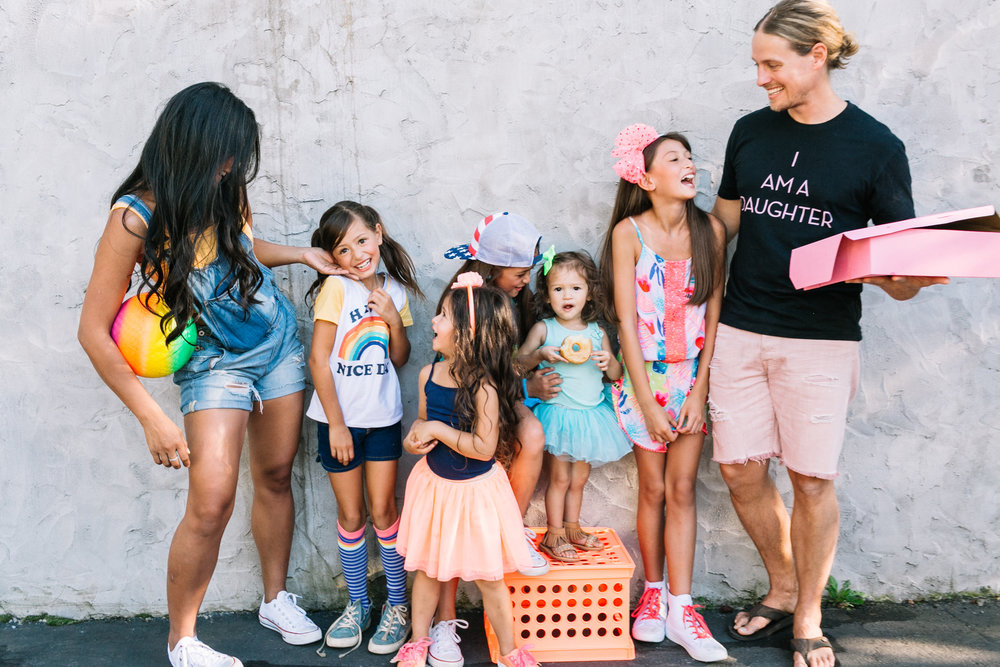 Isaac and Stephanie with their five daughter  s from left: Maggie (8),   Evangeline (4) Lucy (9),   Constance (2), and Dylan (10)