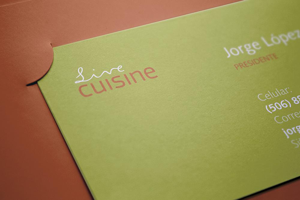 Live Cuisine  Logotipo e identidad visual