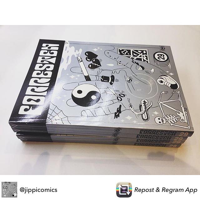 ! Debuterer på trykk med ny tegneserie i denne snasne jubileumsutgaven av Forresten! #jippicomics #forresten #lobotom