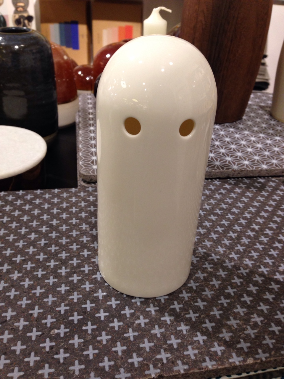 Aarhus shopping; cubebots are aware, basic hands, ghost candle holder