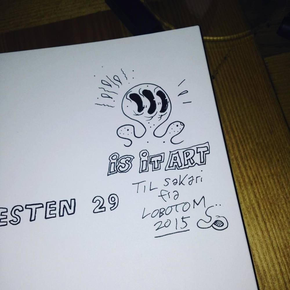 Min første signatur #forresten #jippicomics #lobotom #zensor