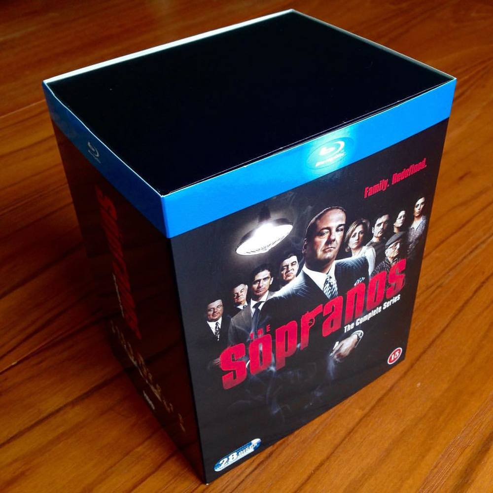 Blu-Ray of the Month™ The Sopranos Blu-Ray Boxset, all 86 episodes on 28 discs in 1080p hd+ five hours of bonus features including 25 audio commentaries with cast and crew. #thesopranos #jamesgandolfini #tonysoprano #hbo #mafia #anthonysoprano #corradosoprano #giovannisoprano #liviasoprano #meadowsoprano #janicesoprano #carmelasoprano #silviodante #jamesaltieri #christophermoltisanti #adrianalacerva #jennifermelfi #jackieaprile #heshrabkin #richieaprile #bobbybacala #bigpussybonpensiero  #pauliegualtieri #bluray #boxset #davidchase