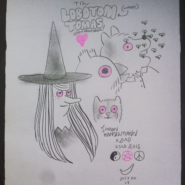"""my signed copy of """"Livet Er En Fucking Fest""""❤️ #simonhanselmann #ocx  #ocx2015 #oslocomicsexpo #megg #mogg #ugle"""