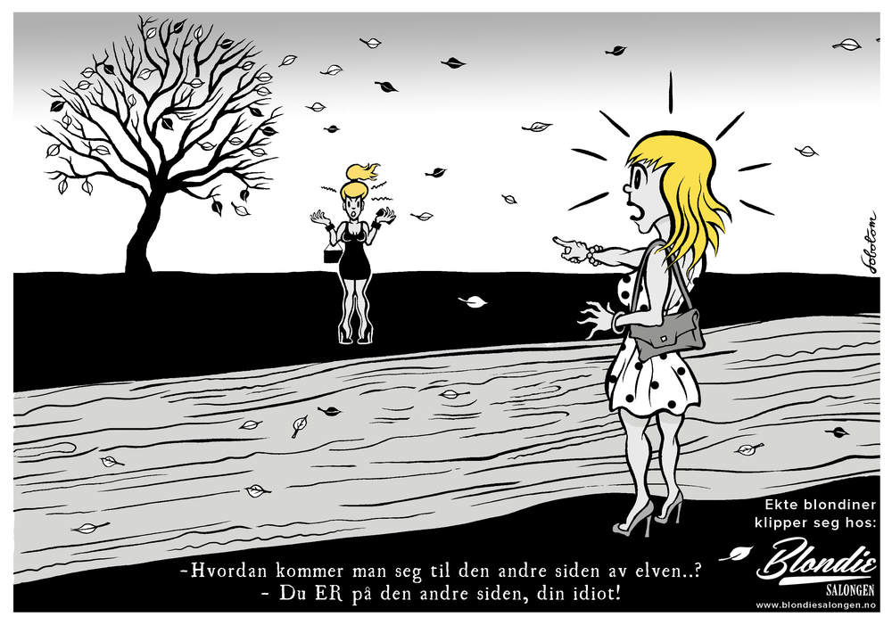 Ad postcard for hair salon Blondie Salongen