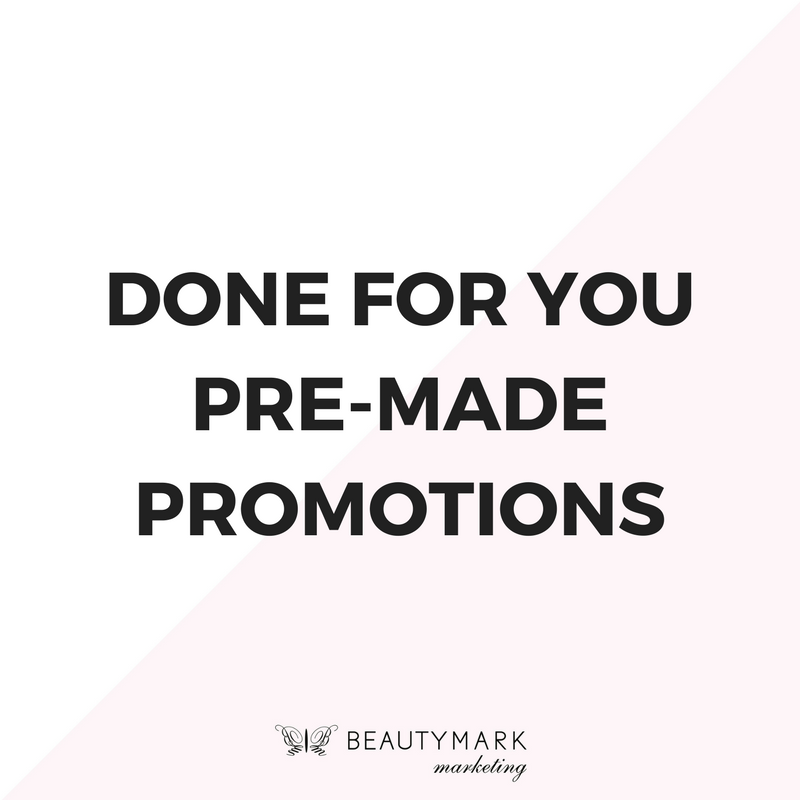 premade promotions for beauty businesses