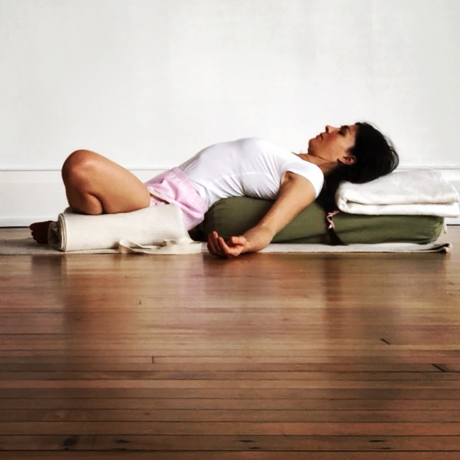 Props are used to support the body in restorative postures.