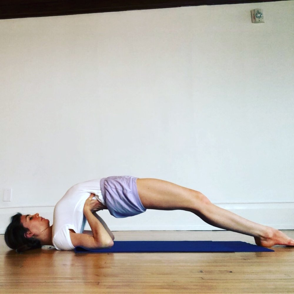 Setu bandha Sarvāngāsana—the construction of a bridge by the whole body pose