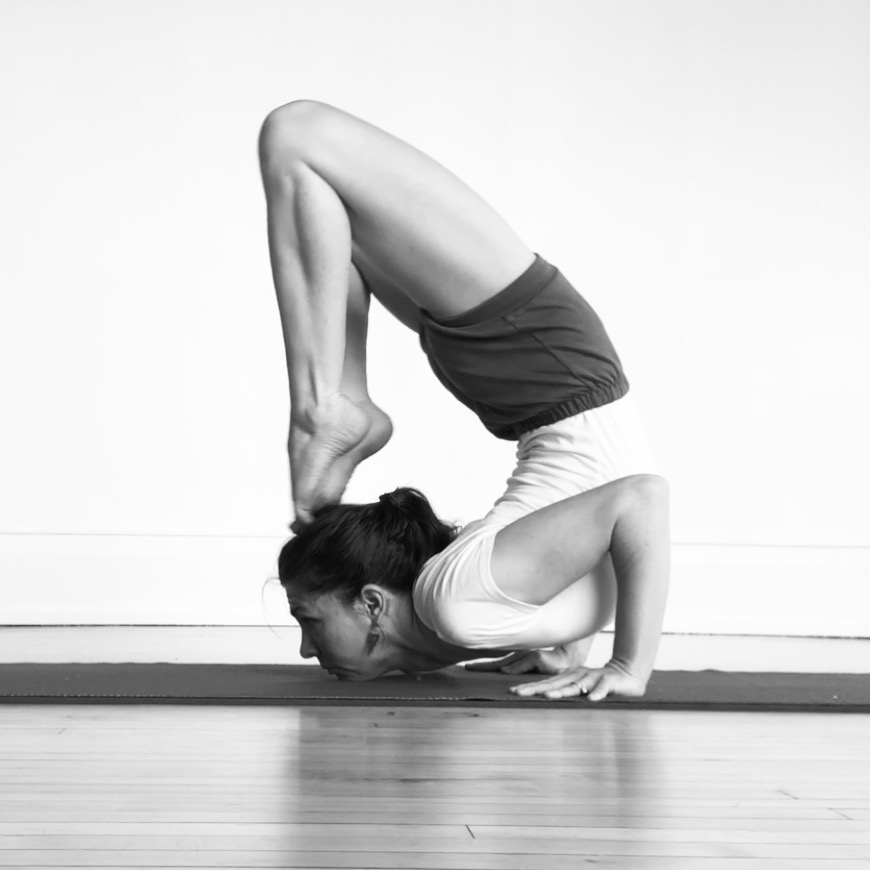 Ganda Bherundāsana — pose facing the difficult/terrible side