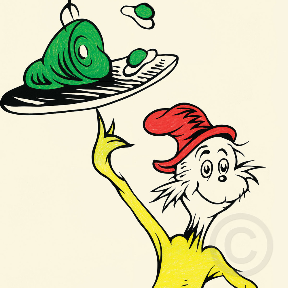 green eggs and ham 50th anniversary print the art of dr seuss rh authorizedgallery com  green eggs and ham clip art free