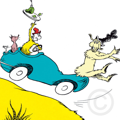 Would You Could You In A Car The Art Of Dr Seuss Gallery